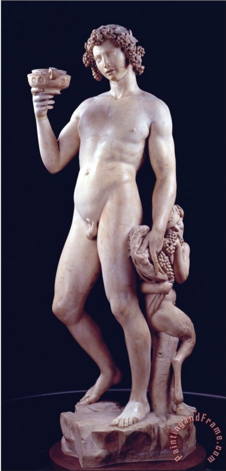 Michelangelo Buonarroti The Drunkenness of Bacchus 1496 97 Art Print