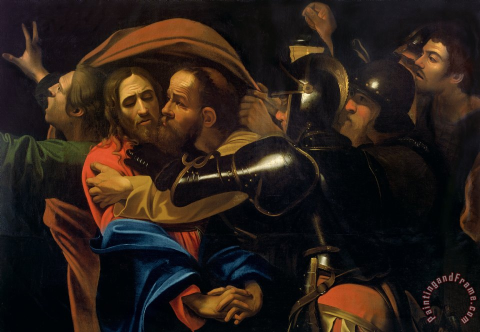The Taking of Christ painting - Michelangelo Caravaggio The Taking of Christ Art Print