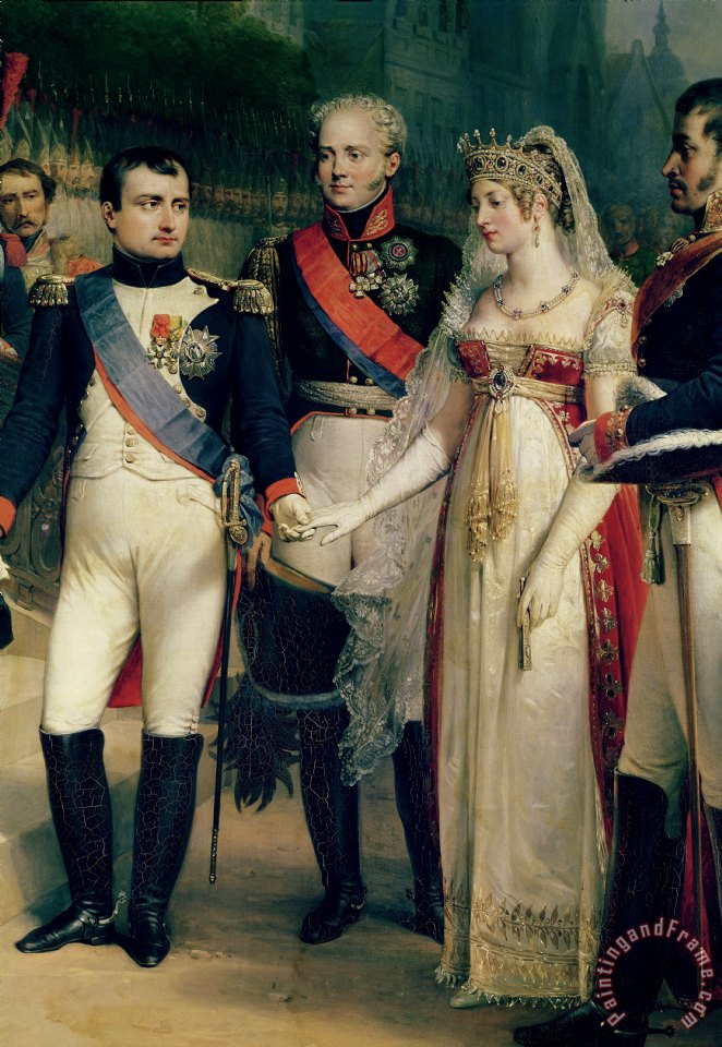 Napoleon Bonaparte Receiving Queen Louisa of Prussia painting - Nicolas Louis Francois Gosse Napoleon Bonaparte Receiving Queen Louisa of Prussia Art Print