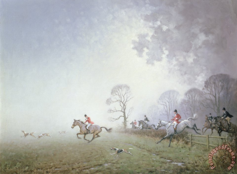 Hunting Scene painting - Ninetta Butterworth Hunting Scene Art Print