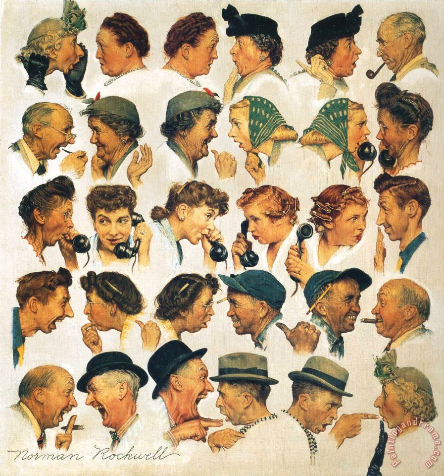 Norman Rockwell The Gossips painting - The Gossips print for sale