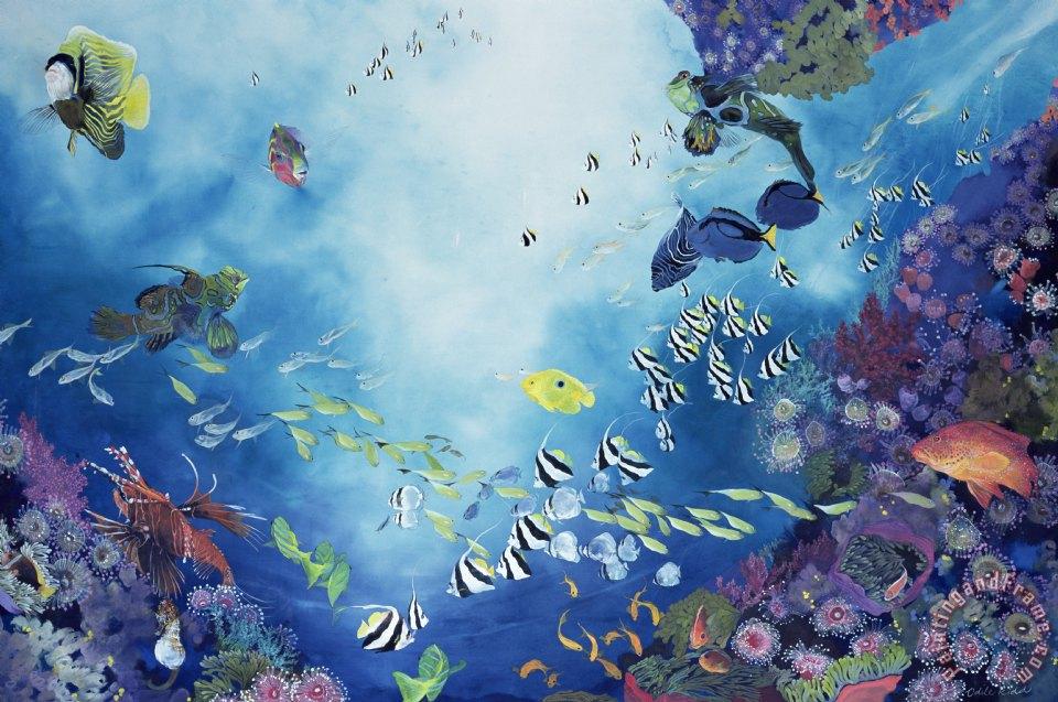 Odile Kidd Underwater World III painting - Underwater ...