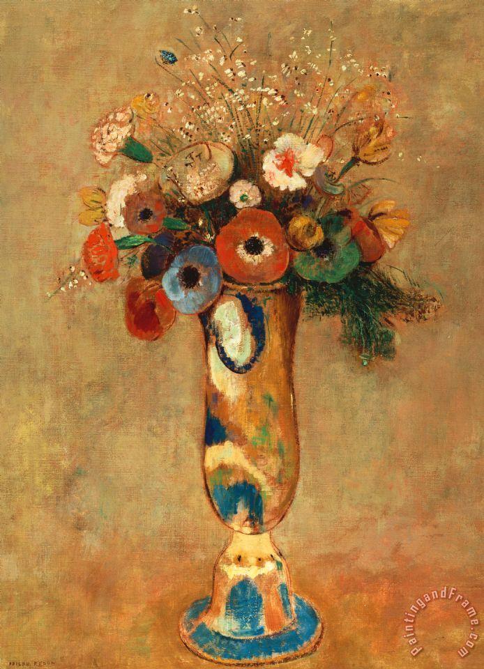 Odilon Redon Vase Of Flowers Painting Vase Of Flowers Print For Sale