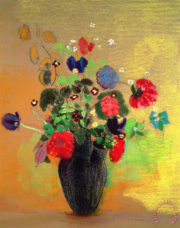 Odilon Redon Vase Of Flowers Painting Vase Of Flowers Print For Sale