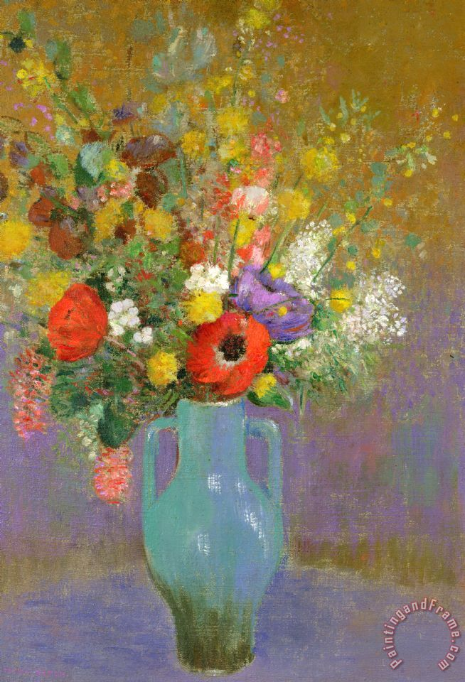 Odilon Redon Bouquet Of Wild Flowers painting - Bouquet Of Wild ...