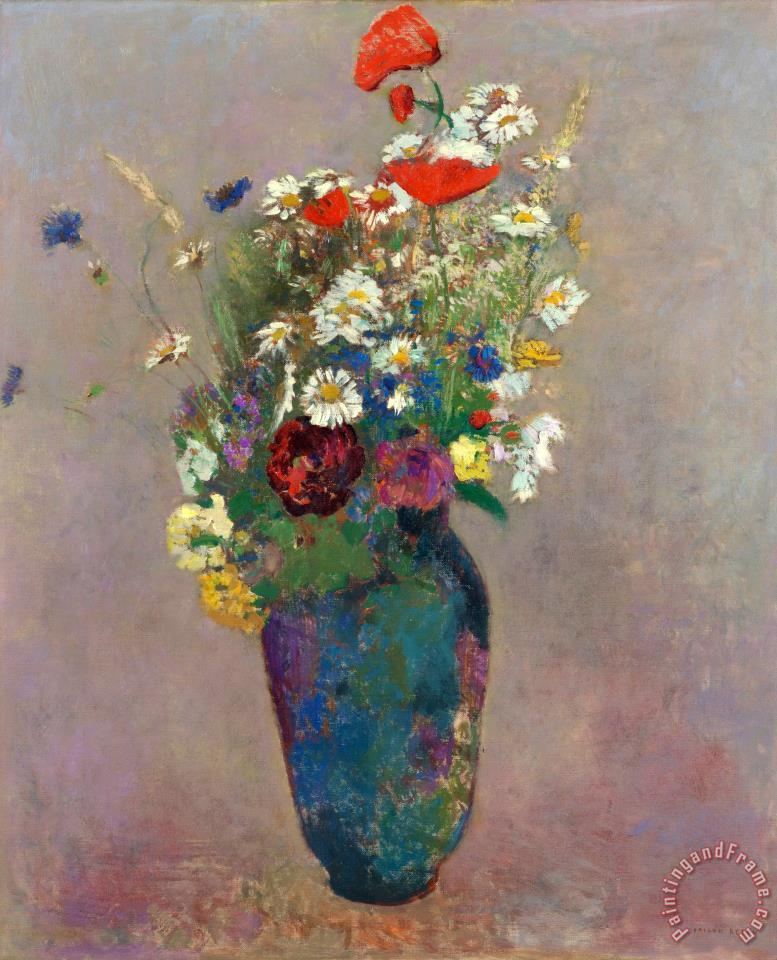 Vision Vase of Flowers painting - Odilon Redon Vision Vase of Flowers Art Print
