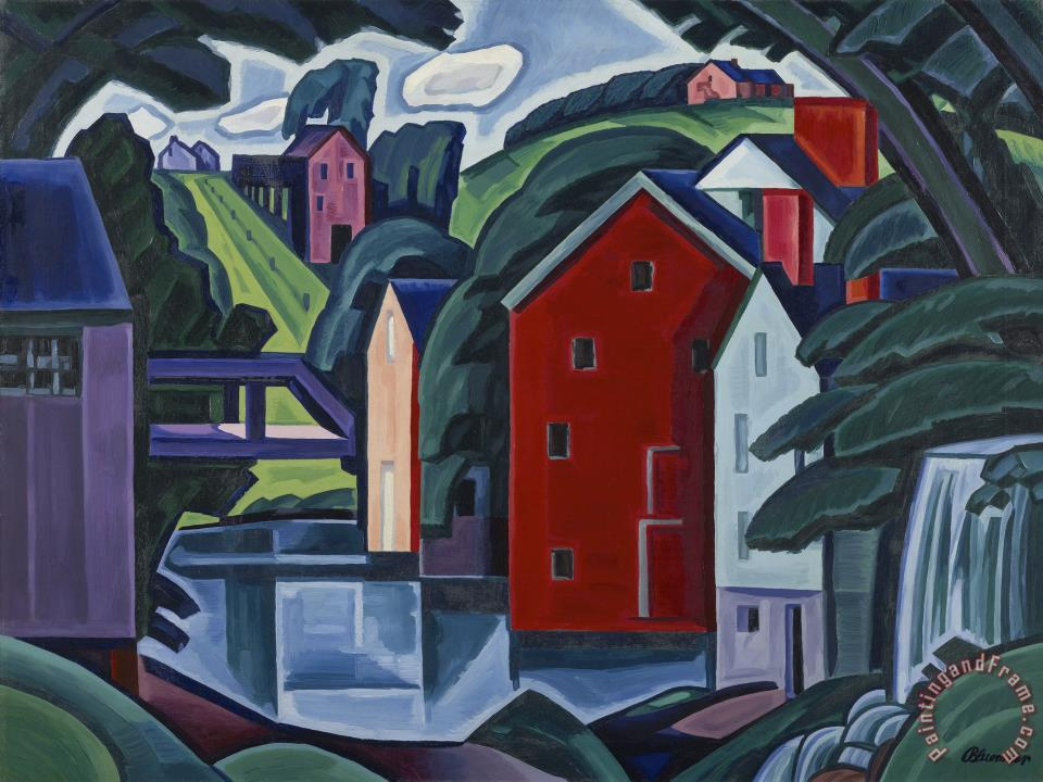 Form And Space In Art : Oscar bluemner motive of space and form painting