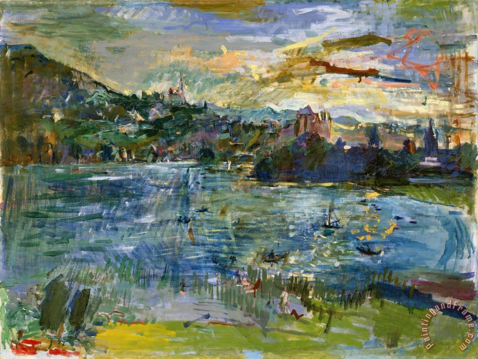 oskar kokoschka lac d 39 annecy ii painting lac d 39 annecy ii print for sale. Black Bedroom Furniture Sets. Home Design Ideas