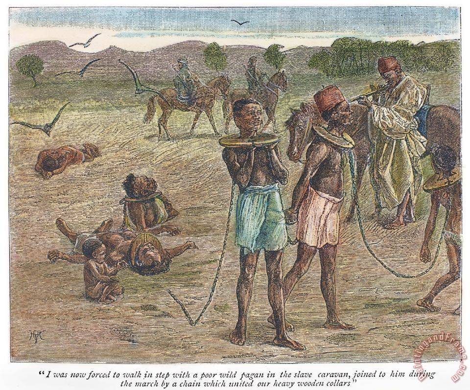 Africa: Slave Trade, 1889 painting - Others Africa: Slave Trade, 1889 Art Print