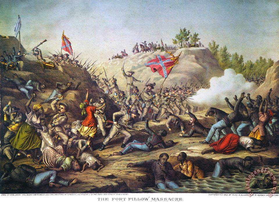Others Fort Pillow Massacre 1864 Painting Fort Pillow