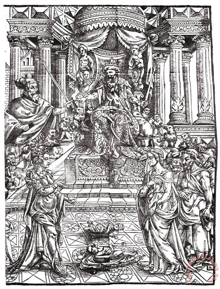 Judgment Of Solomon painting - Others Judgment Of Solomon Art Print