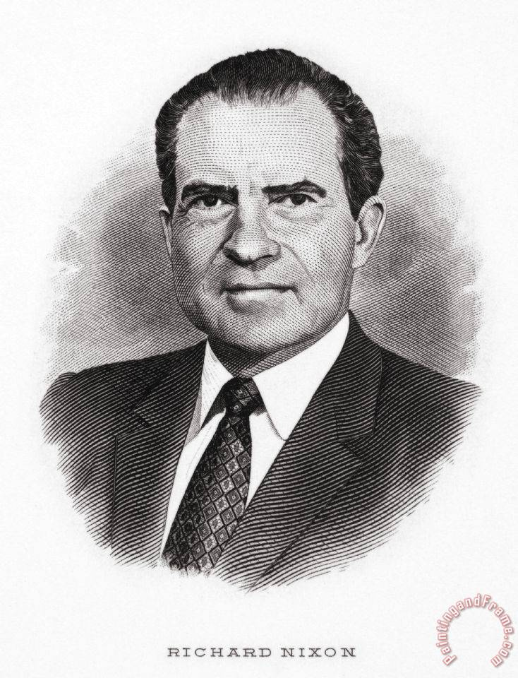 Others Richard Nixon (1913-1994) painting - Richard Nixon ...