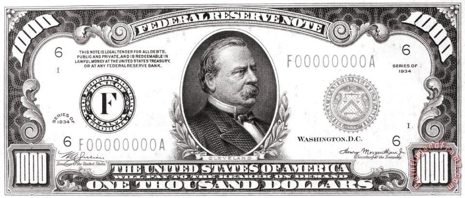 Others 1 000 Dollar Bill Painting 1 000 Dollar Bill