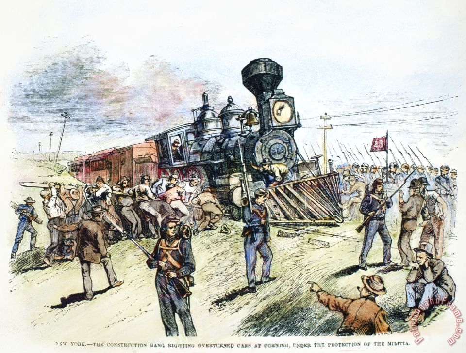 great railroad strike The great railroad strike of 1877 heralded a new era of labor conflict in the  united states that year, mired in the stagnant economy that.