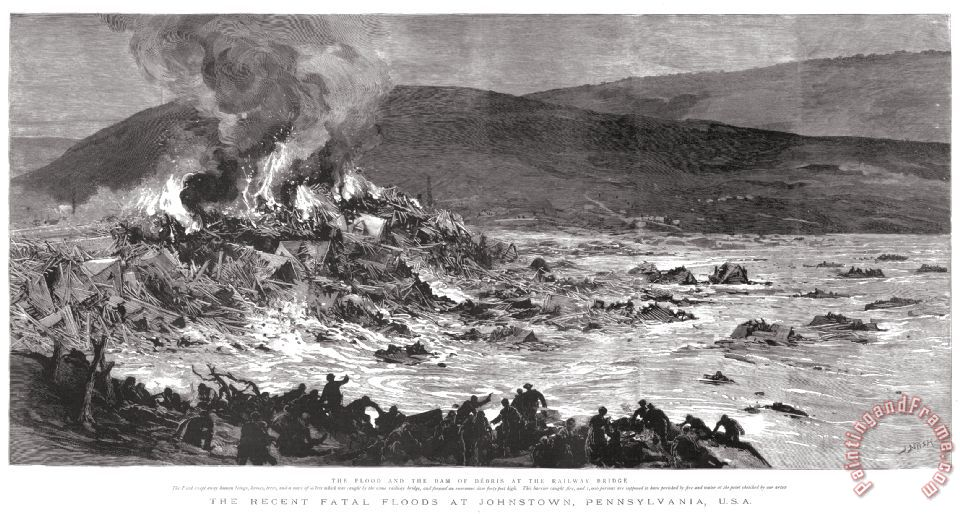 Johnstown Flood, 1889 painting - Others Johnstown Flood, 1889 Art Print