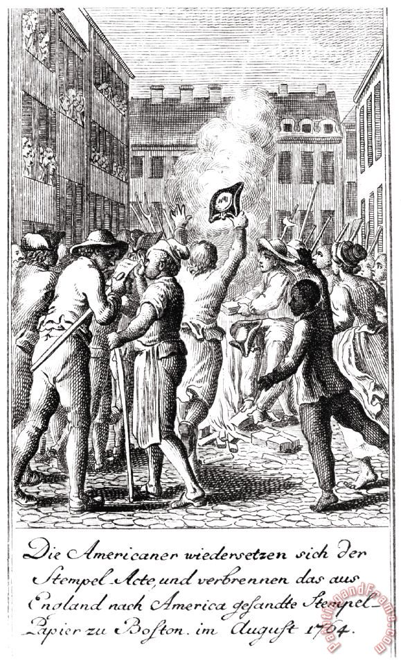 Others Anti-stamp Act, Boston, 1765 Painting