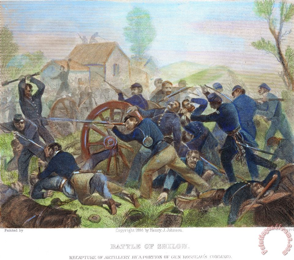 Others Battle Of Shiloh 1862 Painting Battle Of Shiloh