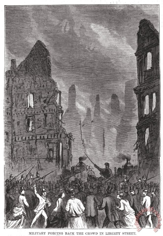 Boston Fire, 1872 painting - Others Boston Fire, 1872 Art Print