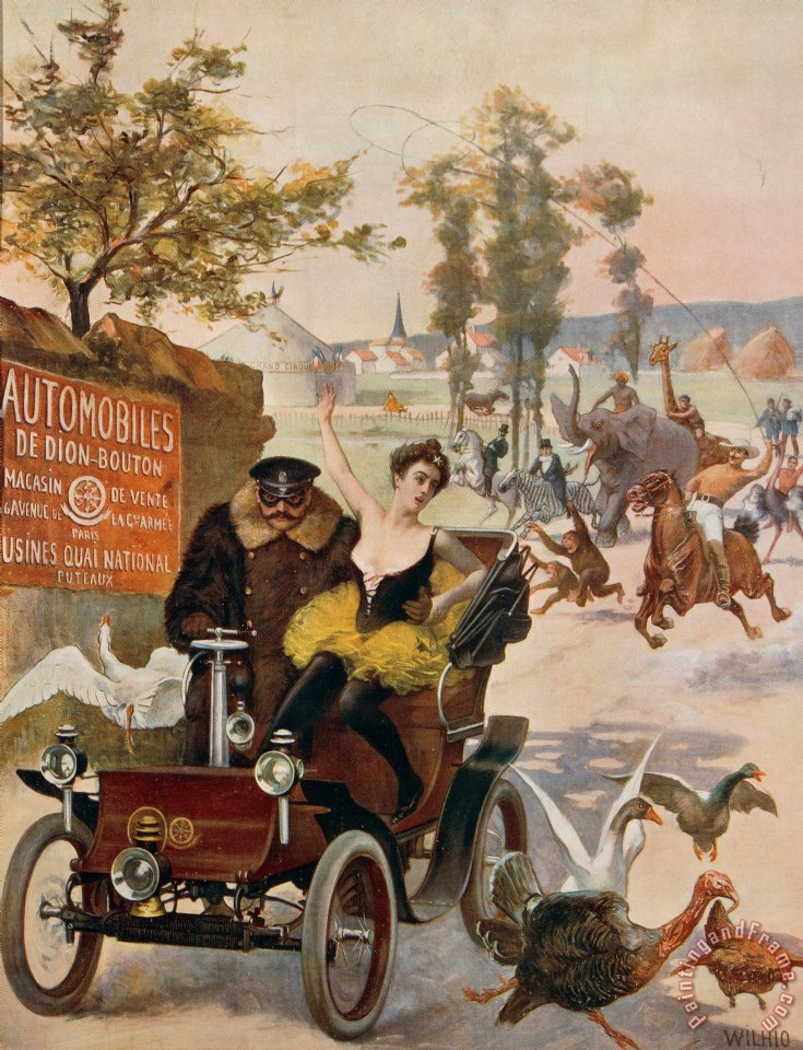 Others Circus Star Kidnapped Wilhio S Poster For De Dion Bouton Cars Art Print