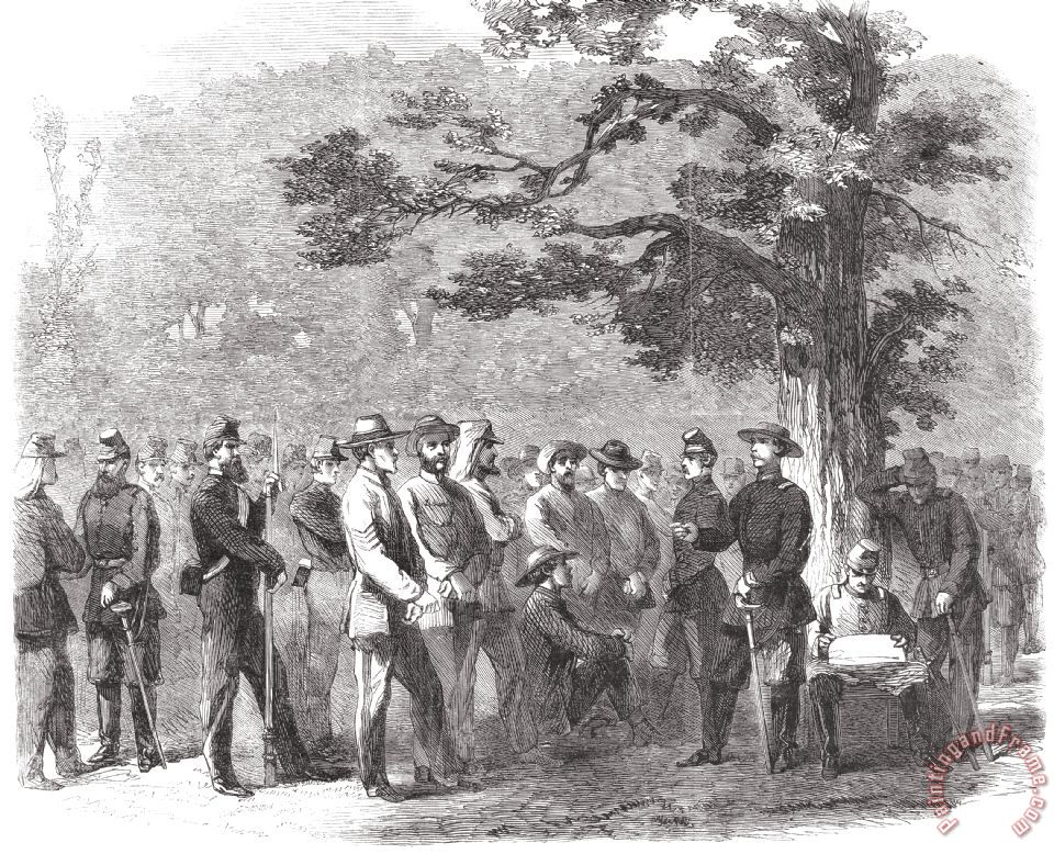 Civil War: Prisoners, 1861 painting - Others Civil War: Prisoners, 1861 Art Print