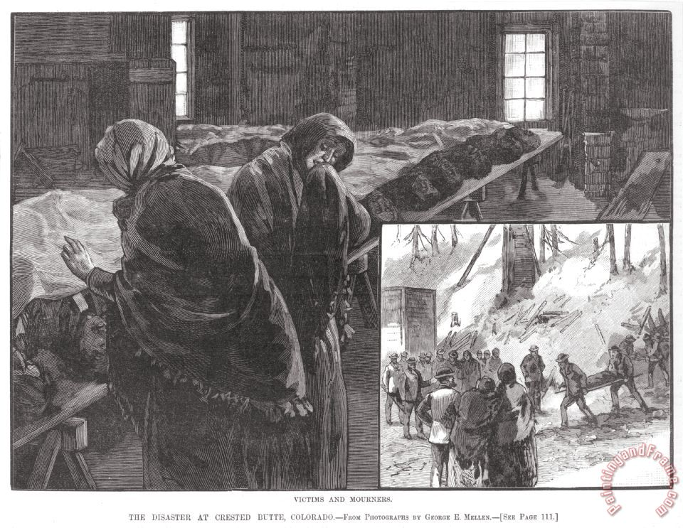 Coal Mine Disaster, 1884 painting - Others Coal Mine Disaster, 1884 Art Print