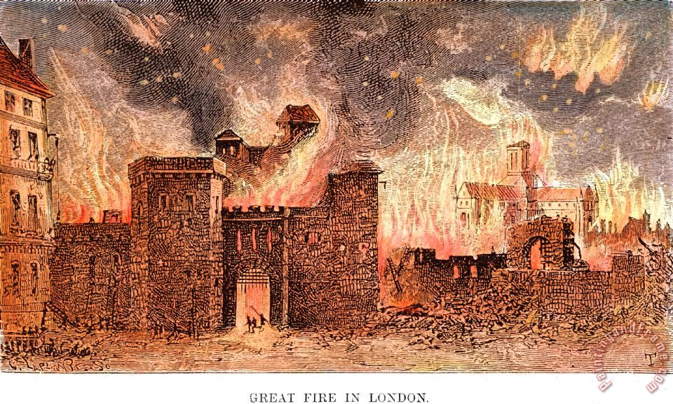 Great Fire Of London, 1666 painting - Others Great Fire Of London, 1666 Art Print