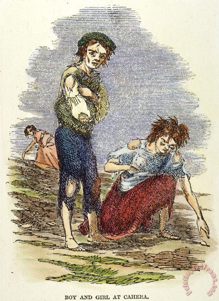 Others Great Potato Famine 1840s Painting Great Potato