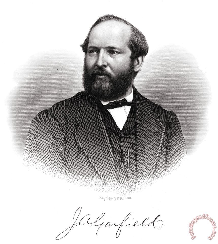 james garfield Holding office from march to september of 1881, president garfield was in office  for a total of just six  james a garfield (1880) by jonas mills bundy, p 77.