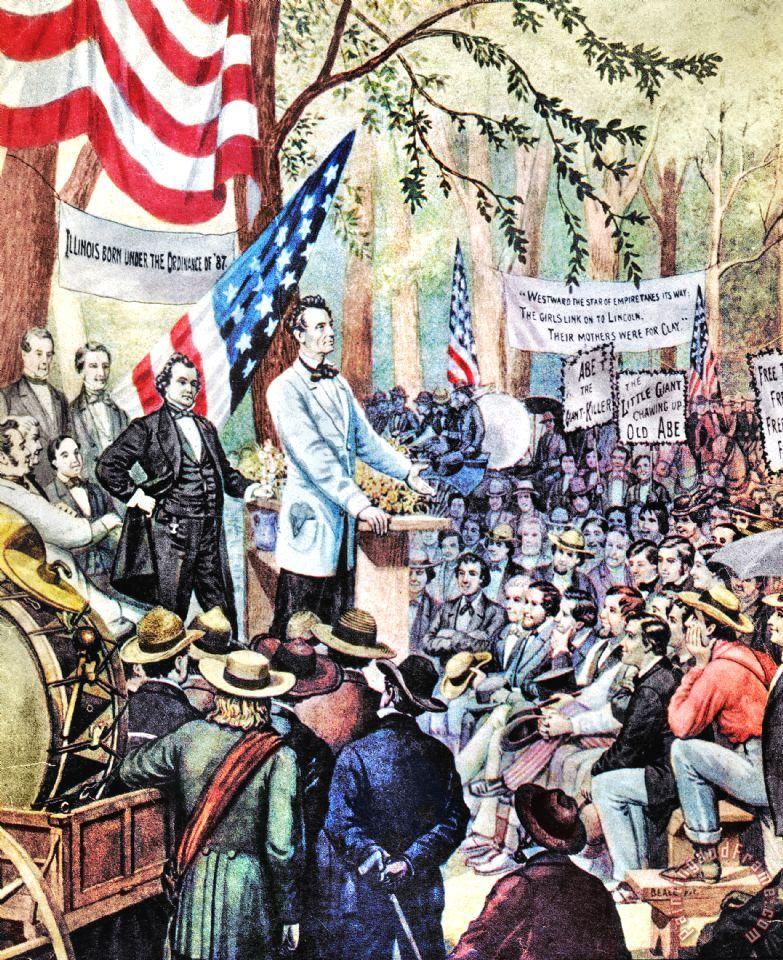 an analysis of the lincoln douglass debates General douglas macarthur's farewell address to  the lincoln-douglas debates of 1858 were a  more about general douglas macarthur's farewell address to.