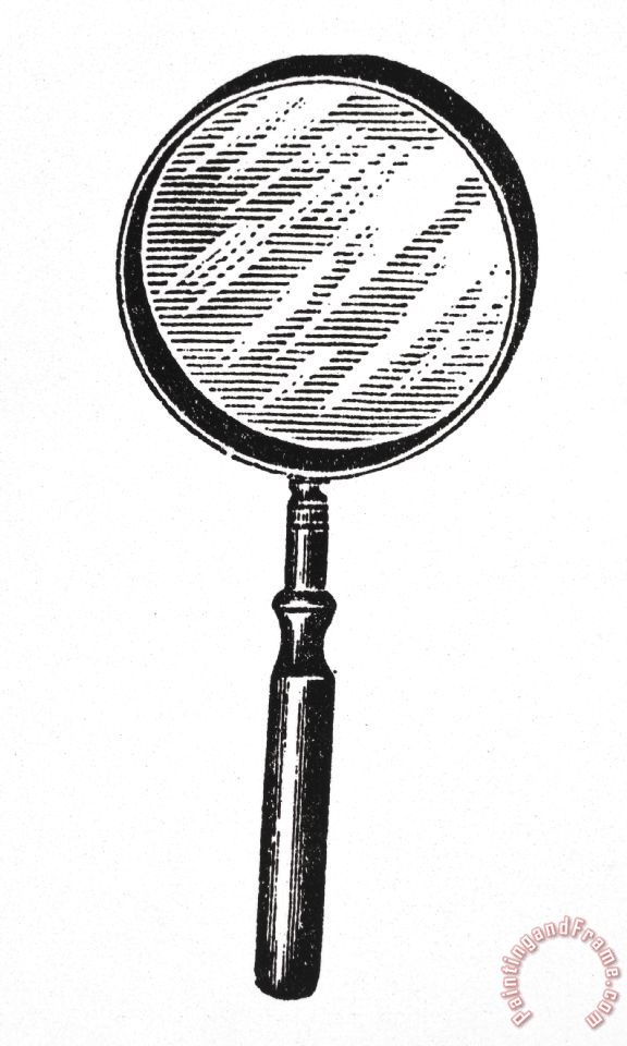 Others Magnifying Glass Painting Magnifying Glass Print