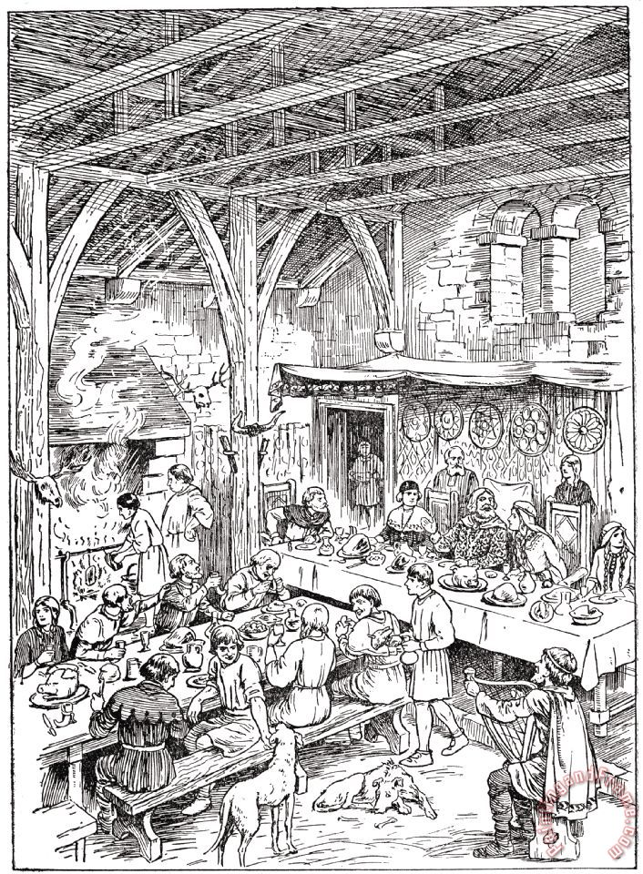 others medieval dining hall painting medieval dining