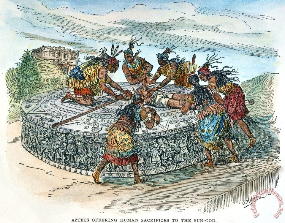 human sacrifice in the aztec culture Aztec religion aztec religion was a polytheistic system of beliefs which had elements of human sacrifice and rich culture of festivals and ceremonies.