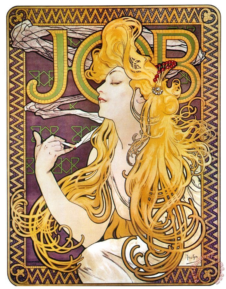 Others Mucha: Cigarette Papers painting - Mucha: Cigarette ...