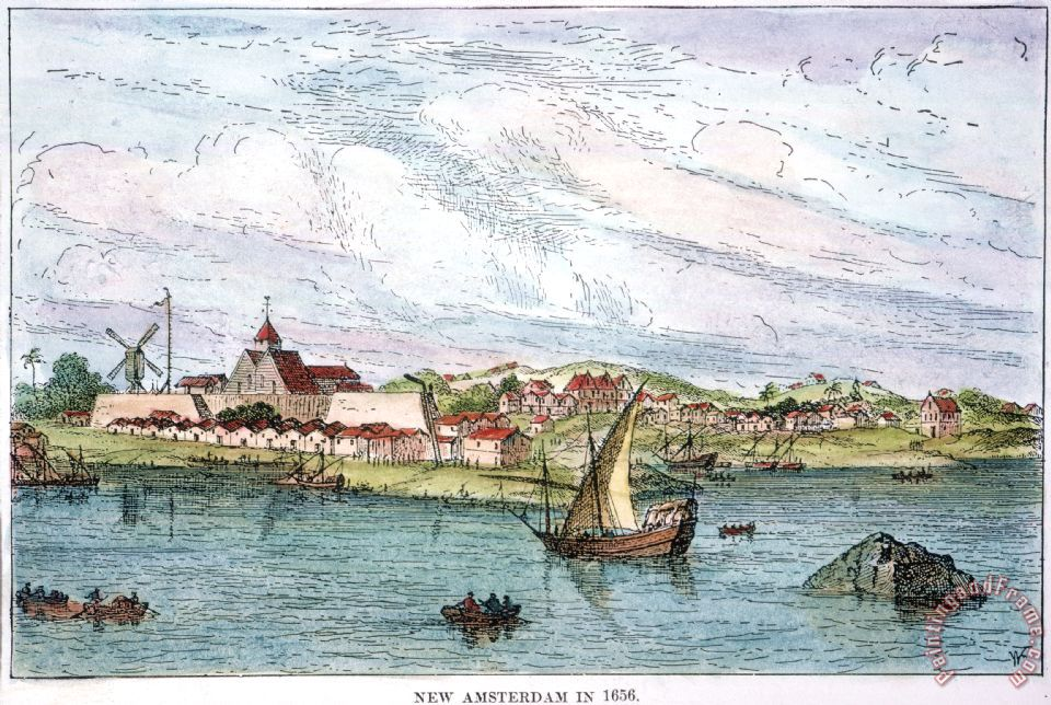 others new amsterdam c1656 painting new amsterdam
