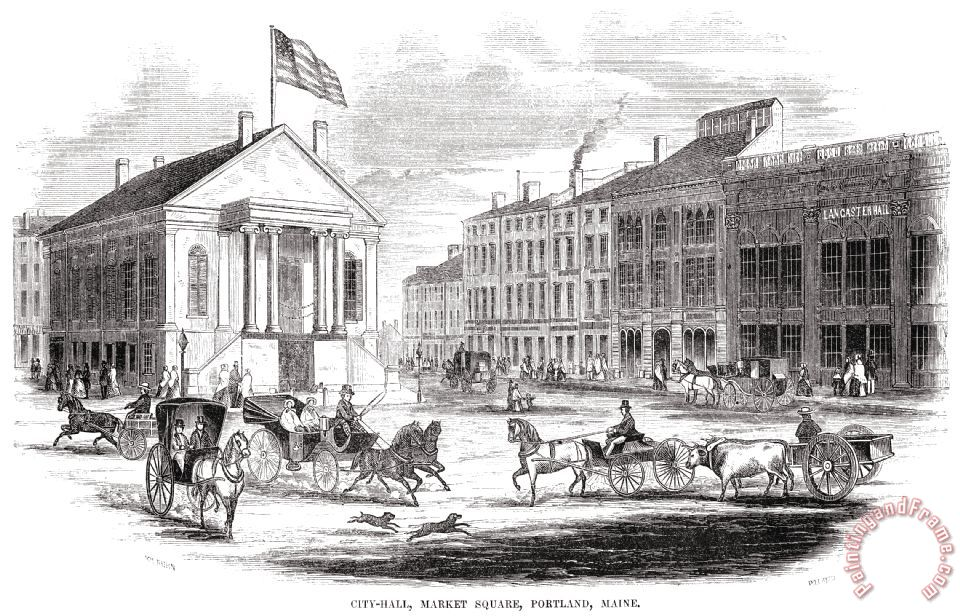 Others Portland Maine 1853 Painting Portland Maine 1853 Print For Sale