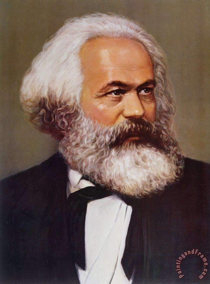 Portrait of Karl Marx painting - Others Portrait of Karl Marx Art Print