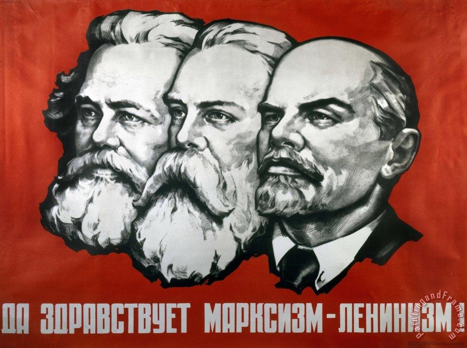 Engels and Lenin painting  Lenin