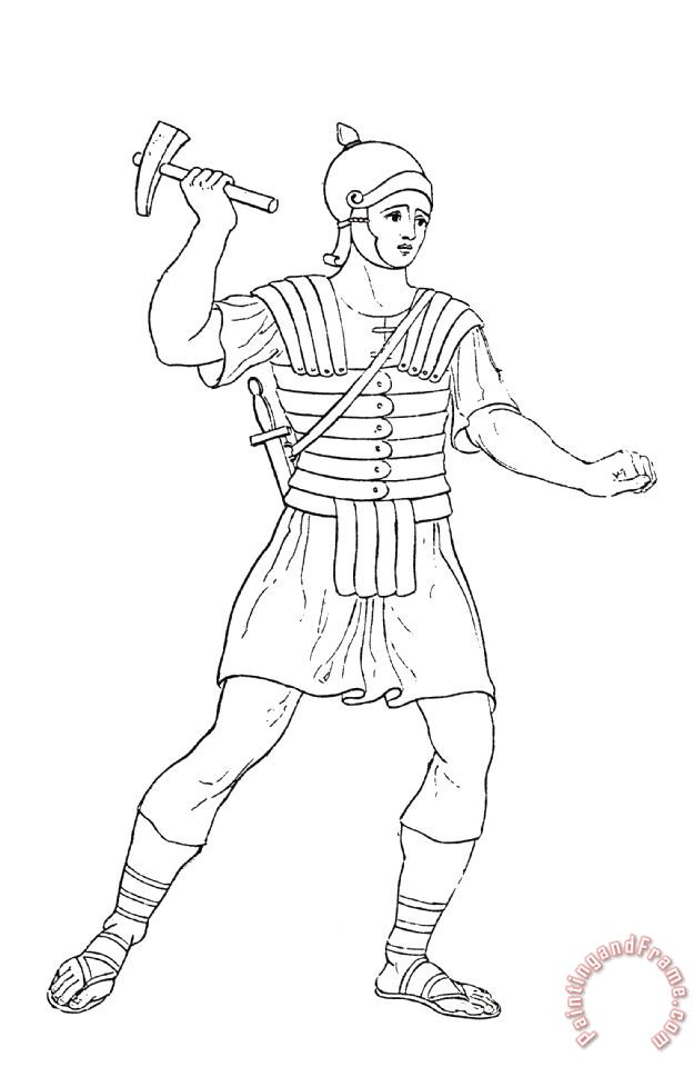 roman soldier coloring pages - photo#22