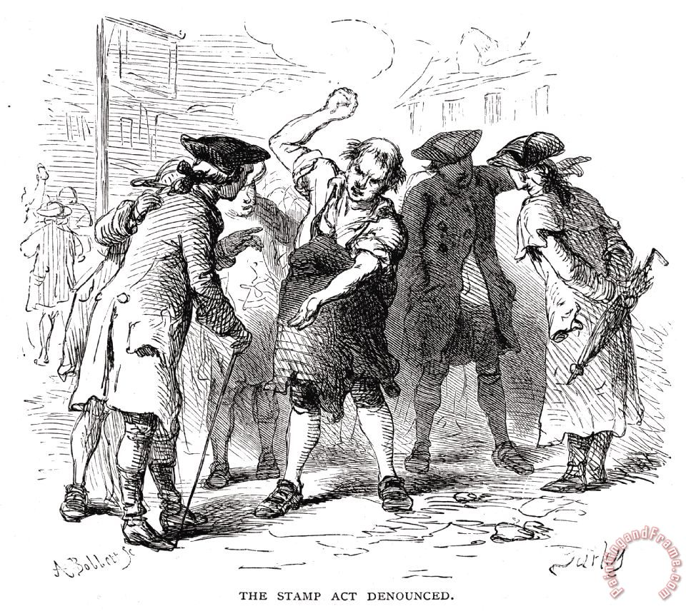 Others Stamp Act 1765 Painting Stamp Act 1765 Print