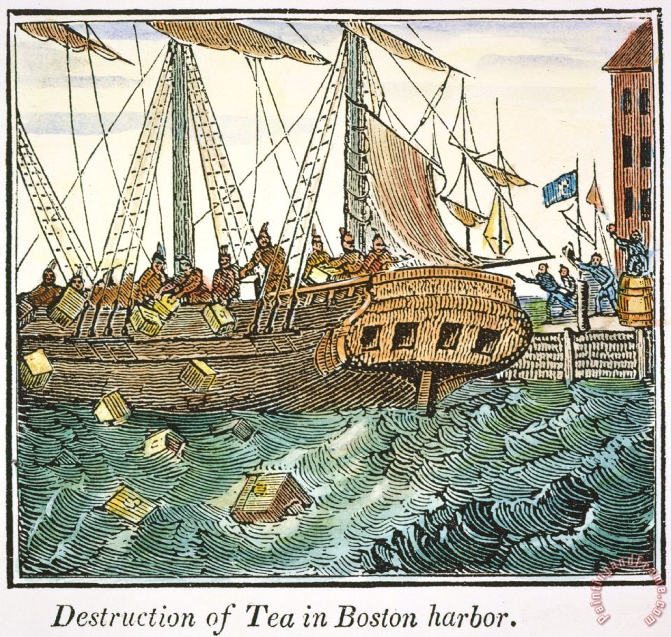 The Boston Tea Party, 1773 painting - Others The Boston Tea Party, 1773 Art