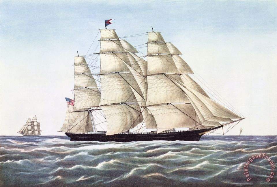 Others The Clipper Ship Flying Cloud Art Painting