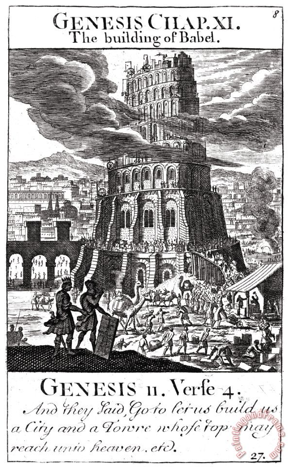 analysis of the tower of babel paintings A most faithful picture of contemporary building operations is shown in the two paintings of the tower of babel (one 1563, the other undated.