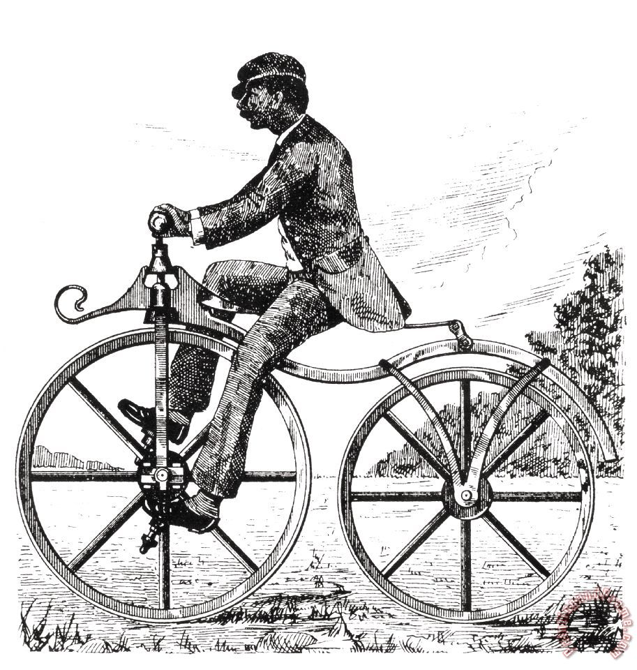 Others Velocipede, 1866 Art Painting