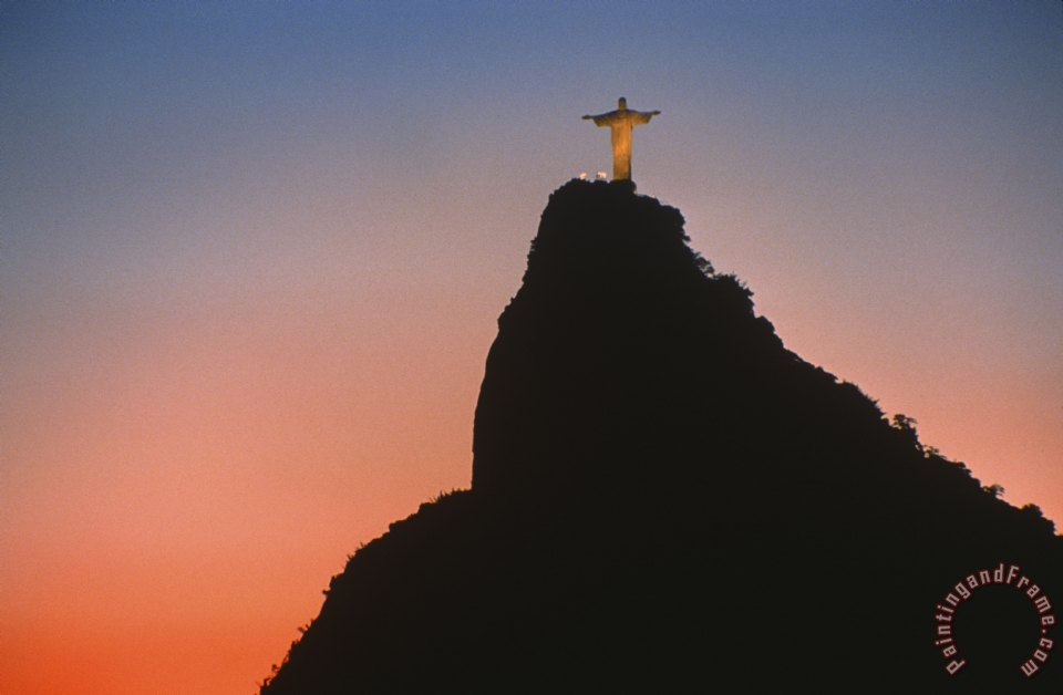 View of Christ the Redeemer painting - Others View of Christ the Redeemer Art Print