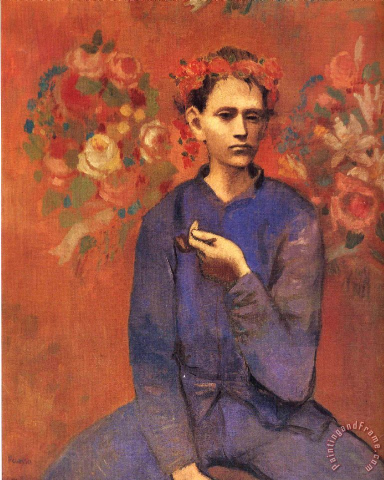 Pablo Picasso A Boy with Pipe 1905 Art Print