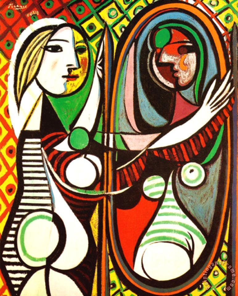 Pablo Picasso Girl Before a Mirror C 1932 Art Print
