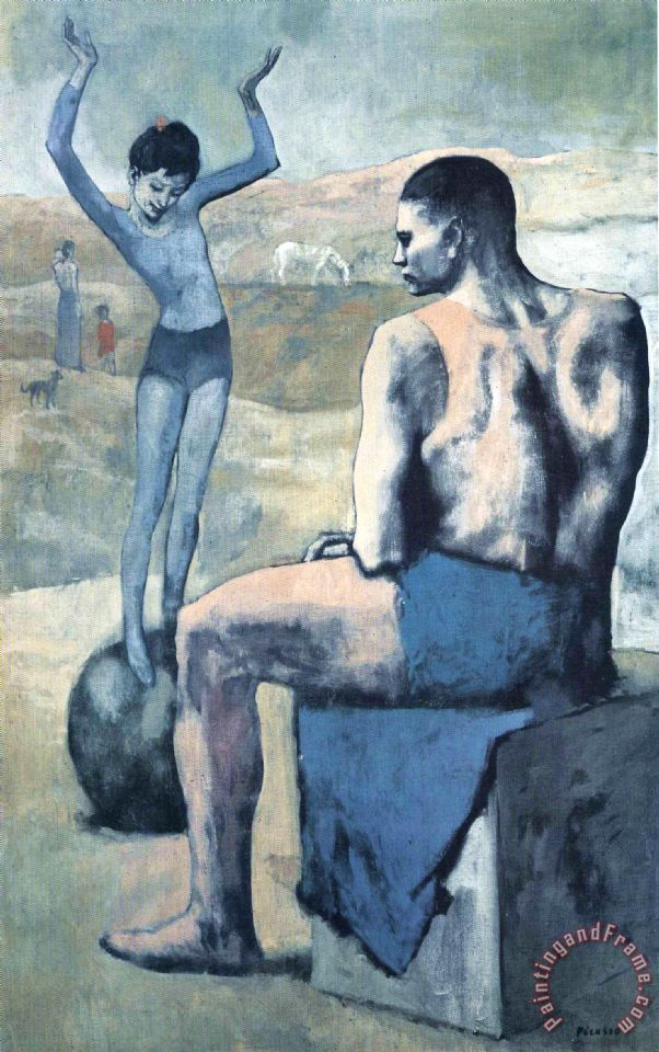 Pablo Picasso Girl On The Ball 1905 Painting Girl On The