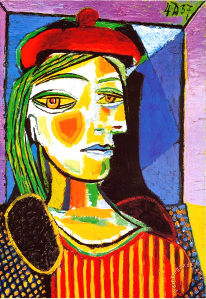 Pablo Picasso Girl with Red Beret Art Print