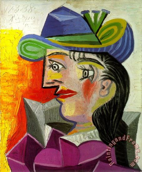 Lady in The Blue Hat painting - Pablo Picasso Lady in The Blue Hat Art Print