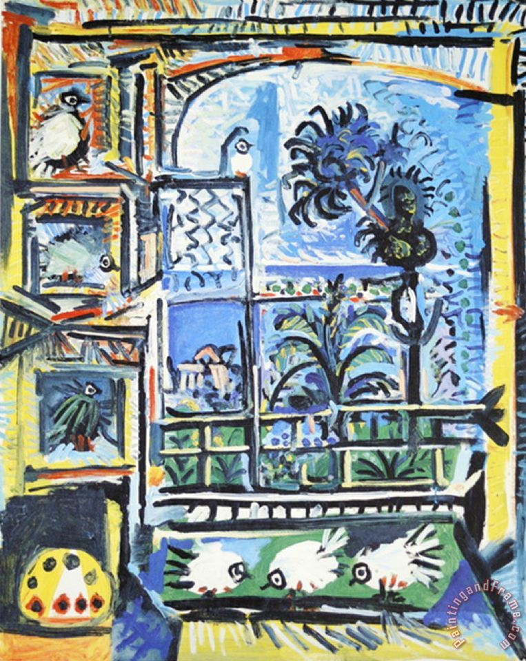 Pablo picasso les pigeons painting les pigeons print for for Large prints for sale